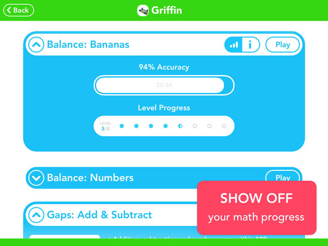 Show off your math progress.